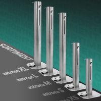 astreea® Model XS Desinfektionssäule aus Edelstahl mit Pedal und 1,0L Kanister