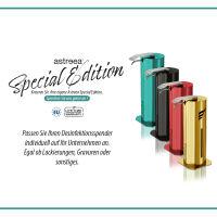 astreea® Desk Desinfektionsspender aus Edelstahl mit 1,0L Kanister