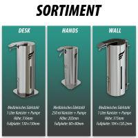 astreea® Wall Desinfektionsspender aus Edelstahl mit 1,0L Kanister