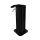astreea® Hands Desinfektionsspender Schwarz aus Edelstahl mit 0,25L Kanister